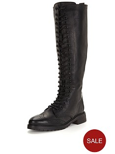 shoe-box-nightingdale-lace-up-flat-pu-knee-boots