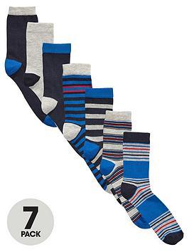 v-by-very-boys-bright-stripe-and-plain-socksnbsp7-pack