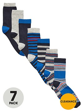 v-by-very-boys-bright-stripe-and-plain-socksnbsp7-pack