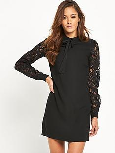 v-by-very-lace-sleeve-tunic-dress