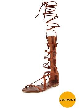 v-by-very-delphynbspknee-high-lace-up-gladiator-flat-sandal