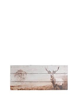 Graham & Brown Graham & Brown Stag Wall Art On Fir Wood Picture