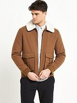 Faux Fur Collar Harrington Jacket