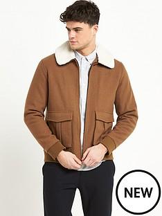 river-island-faux-fur-collar-harrington-jacket