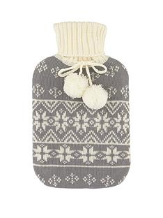 hot-water-bottle-and-snowflake-cosy
