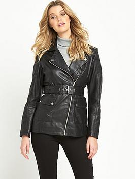 v-by-very-premium-34-length-leather-jacket