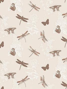 arthouse-enchanted-wings-copper-wallpaper