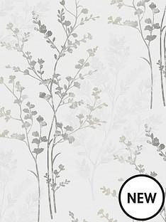fern-motif-silver-wallpaper