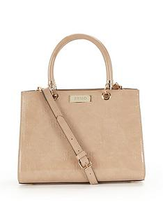 juno-patent-embossed-tote-bag