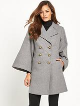 Cape Sleeve Coat