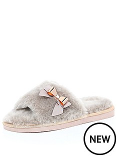 river-island-faux-fur-open-toe-mule-slippers