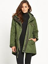 Oversized Casual Padded Parka