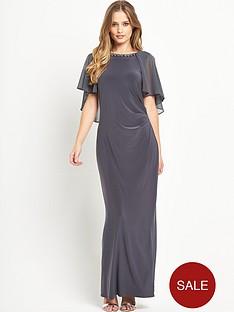 wallis-cape-backnbspembellished-maxi-dress