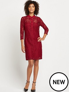 wallis-wallis-lace-shirt-dress