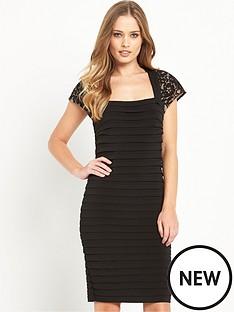 wallis-wallis-lace-top-shutter-dress