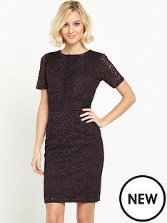warehouse-warehouse-panelled-short-sleeve-lace-dress