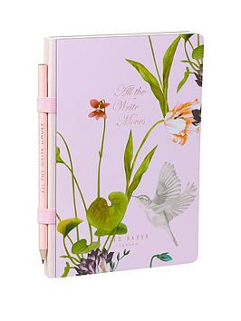 ted-baker-ted-baker-oriental-bloom-a5-notebook-amp-pencil