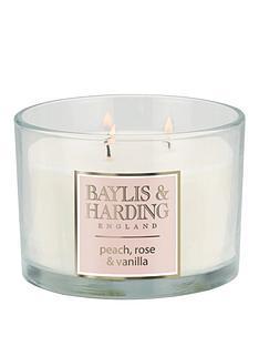 baylis-harding-baylis-amp-harding-peach-rose-amp-vanilla-3-wick-candle