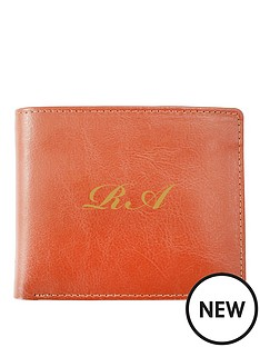 personalised-monogram-tan-leather-wallet