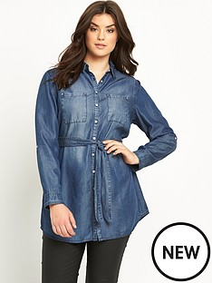 so-fabulous-longline-belted-denim-shirt