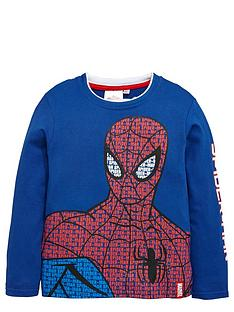 spiderman-boys-blue-long-sleeve-graphic-t-shirt