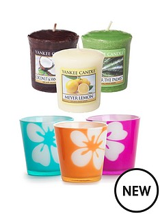 3-flower-dye-votive-holders-with-9-classic-votives