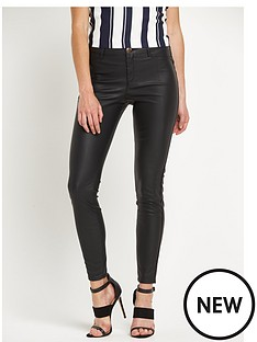 river-island-wet-look-skinny-trousers