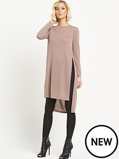 river-island-river-island-cowl-back-longline-top