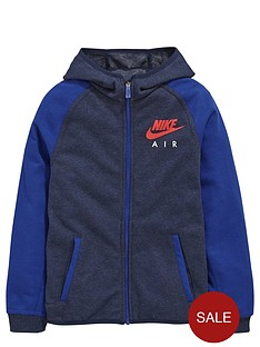 nike-air-older-boys-zip-colour-blocknbsphoodie
