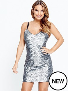 samantha-faiers-sequin-caminbspmini-dress
