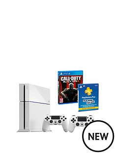playstation-4-white-console-bundle-with-call-of-duty-black-ops-3-12-months-playstation-plus-and-an-extra-dualshock-4-controller