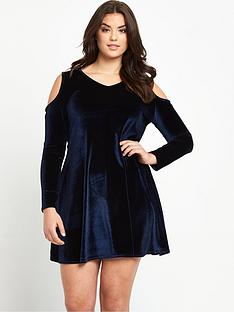 so-fabulous-plus-size-velvet-cold-shoulder-swing-dress-14-28