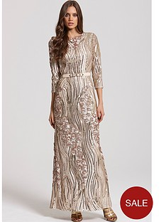 little-mistress-34-sleeve-sequin-maxi-dress