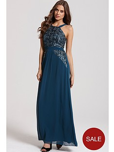 little-mistress-sequin-strappy-maxi-dress