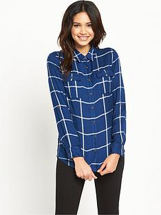 v-by-very-blue-check-shirt