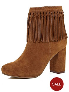 river-island-river-island-fringe-cuff-ankle-boot