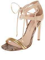 Tie Front Barely There Sandals