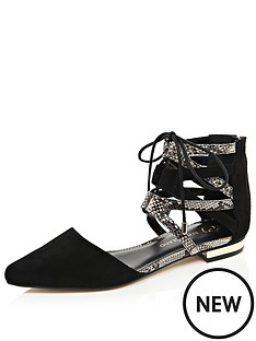river-island-caged-pointed-toe-flat-shoes