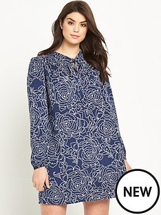 so-fabulous-tie-front-smock-tunic-dress