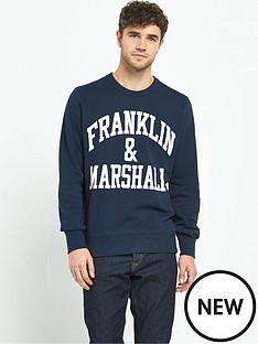 franklin-marshall-franklin-amp-marshall-logo-crew-sweat