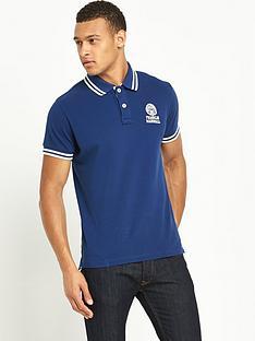 franklin-marshall-logo-tipped-mens-polo-shirt