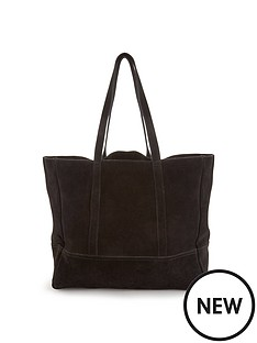 unlined-suede-slouch-shopper-black