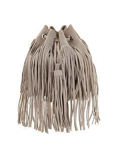 oversized-tassle-fringed-suede-duffle-bag