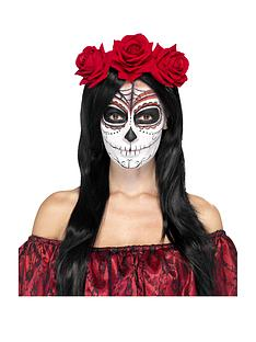 day-of-the-dead-headband-with-red-roses