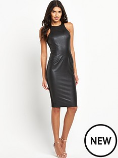 ax-paris-pu-front-midi-dress