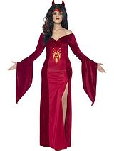 Curves Devil Costume with Horns - Adults Plus Size Costume