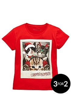 freespirit-girls-novelty-cat-christmas-tee
