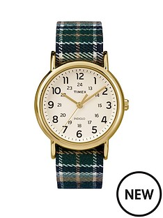 timex-timex-weekender-white-dial-with-blue-plaid-strap-ladies-watch