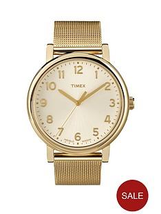 timex-originals-cream-with-gold-tone-mesh-bracelet-ladies-watch