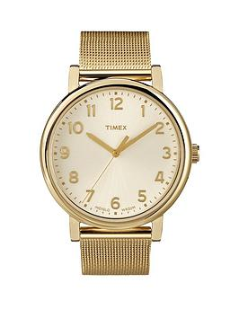 timex-originals-cream-with-gold-tone-mesh-bracelet-ladies-watch